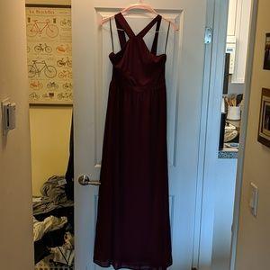 Burgundy maxi dress
